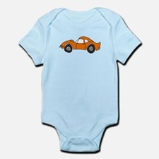 Orange Opel GT Cartoon Infant Bodysuit