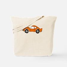 Orange Opel GT Cartoon Tote Bag