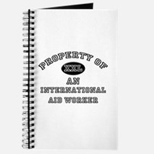 Property of an International Aid Worker Journal