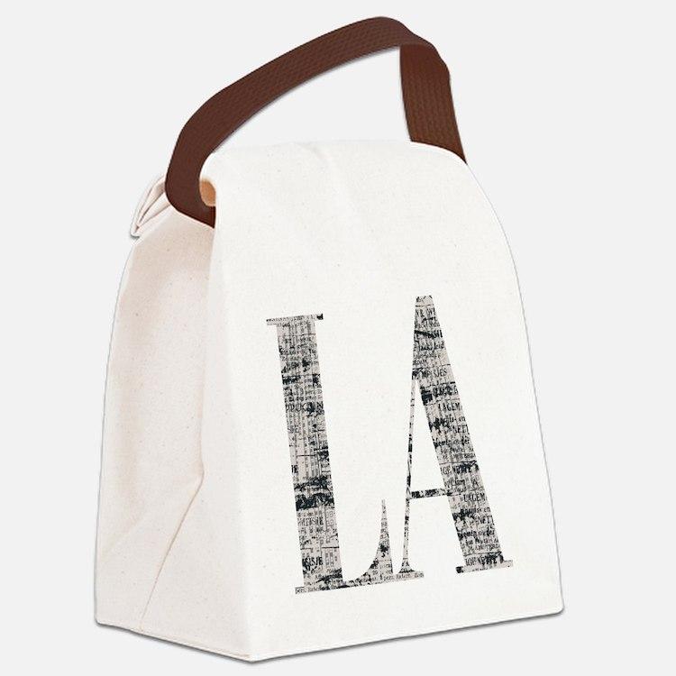 LA - Los Angeles Canvas Lunch Bag