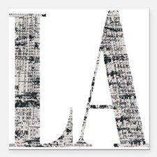 "LA - Los Angeles Square Car Magnet 3"" x 3"""