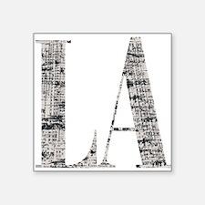 """LA - Los Angeles Square Sticker 3"""" x 3"""""""