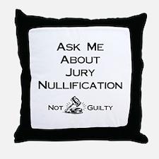 Jury Nullification Throw Pillow