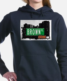 Brown Pl Women's Hooded Sweatshirt