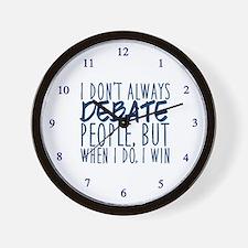 Debate Winner Wall Clock