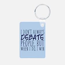 Debate Winner Aluminum Photo Keychain
