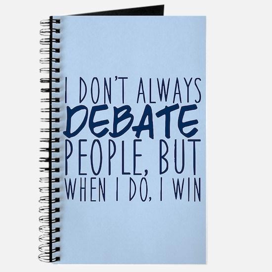 Debate Winner Journal