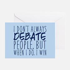 Debate Winner Greeting Card