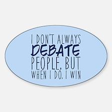 Debate Winner Decal