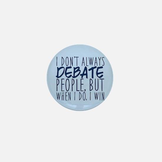 Debate Winner Mini Button