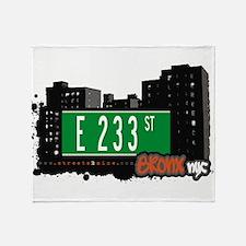 E 233 St Throw Blanket