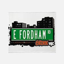 E Fordham Rd Throw Blanket