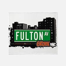 Fulton Ave Throw Blanket