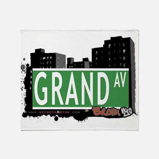 Grand Ave Throw Blanket