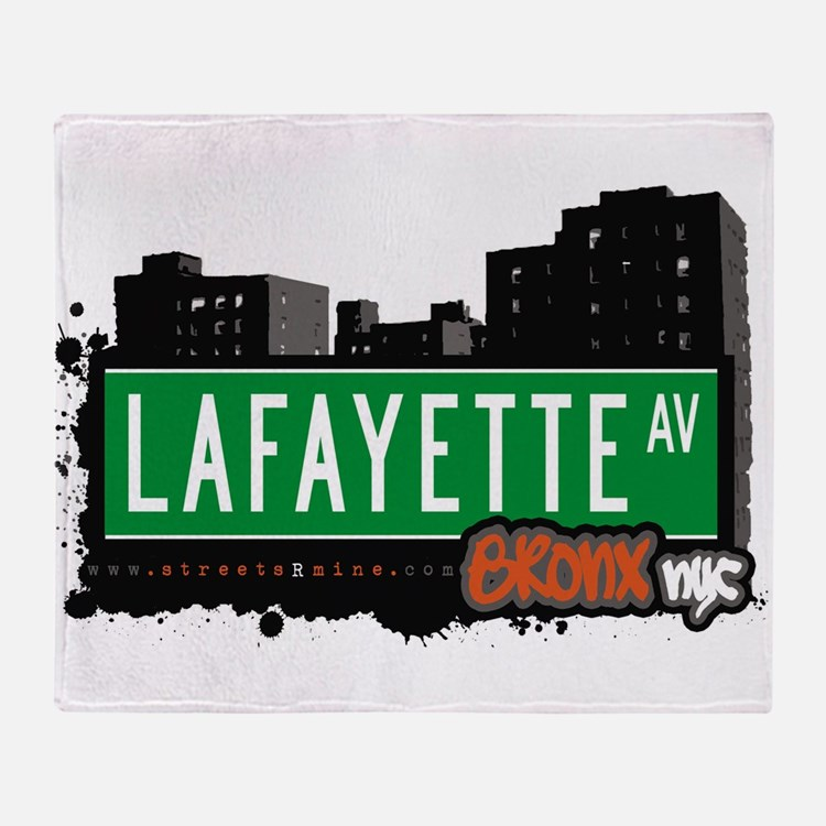 Lafayette Ave Throw Blanket