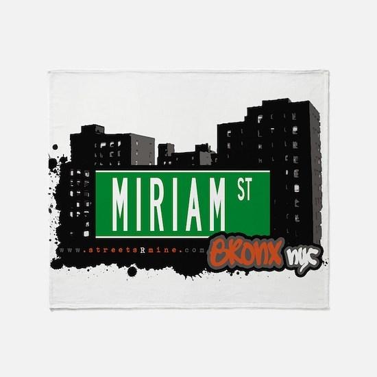Miriam St Throw Blanket