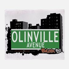 Olinville Ave Throw Blanket