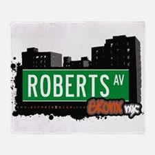 Roberts Ave Throw Blanket