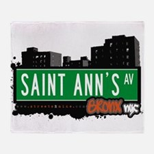 Saint Anns Ave Throw Blanket