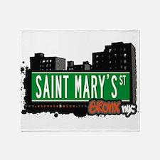 Saint Marys St Throw Blanket