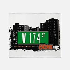 W 174 ST Throw Blanket