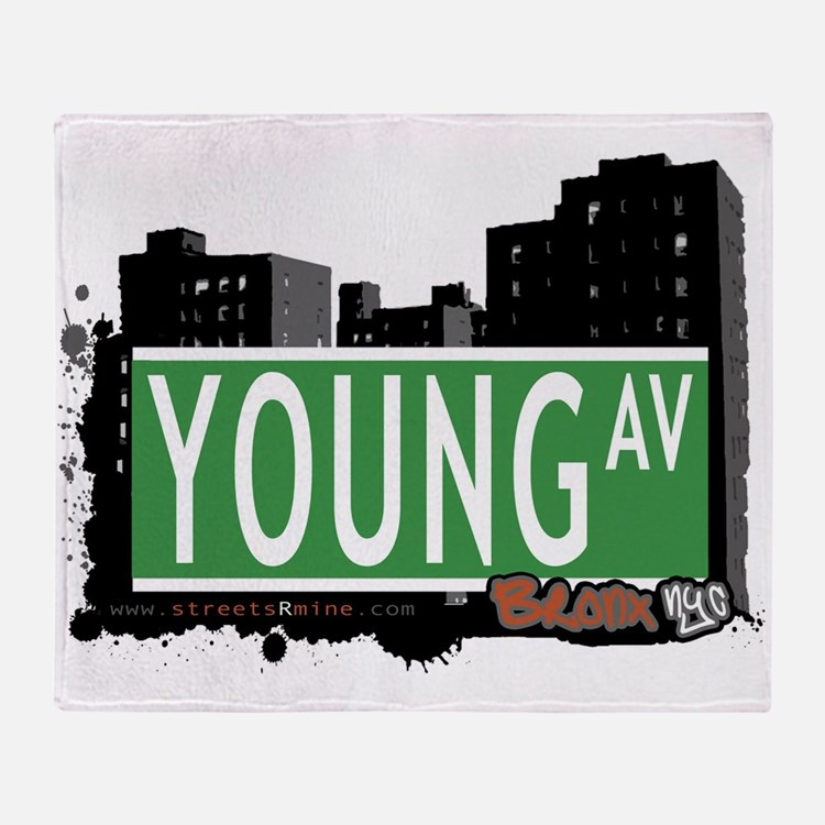 Young Ave Throw Blanket