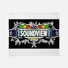 Soundview Bronx NYC (Black) Throw Blanket