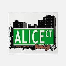 Alice court, Brooklyn, NYC Throw Blanket