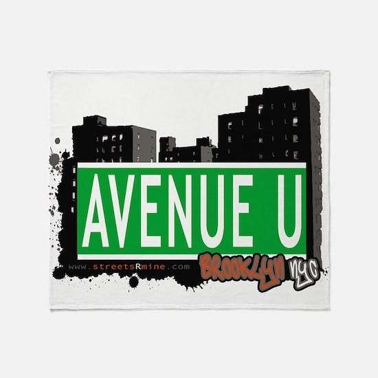 Avenue U, Brooklyn, NYC Throw Blanket