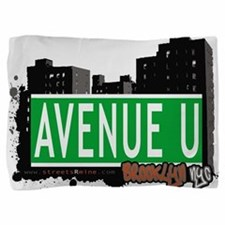 Avenue U, Brooklyn, NYC Pillow Sham