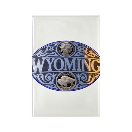 WYOMING Rectangle Magnet