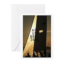 Sailing Sunset, Newport, RI Greeting Cards (Pk of