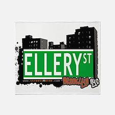 ELLERY ST, BROOKLYN, NYC Throw Blanket