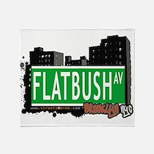 FLATBUSH AV, BROOKLYN, NYC Throw Blanket