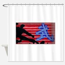 martial arts Shower Curtain