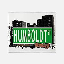 HUMBOLDT ST, BROOKLYN, NYC Throw Blanket