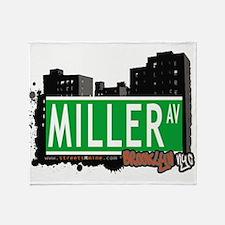 MILLER AV, BROOKLYN, NYC Throw Blanket