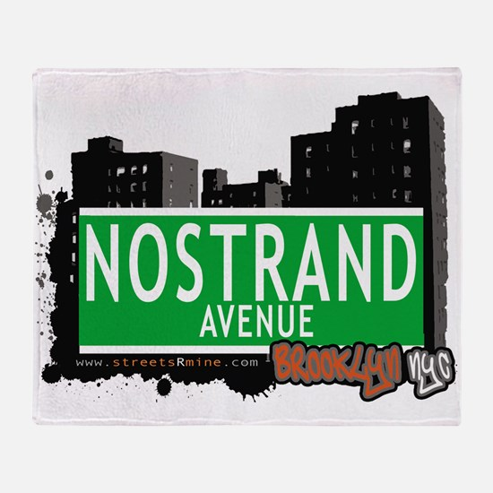 NOSTRAND AVENUE, BROOKLYN, NYC Throw Blanket