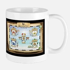Map of Personality-Ville: 4 Coat-of-Arms King Mugs