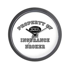 Property of an Insurance Broker Wall Clock