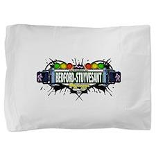 Bedford-Stuyvesant Brooklyn NYC (White) Pillow Sha