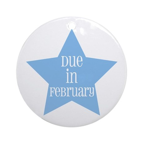Due in February Star Ornament (Round)