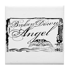 Broken Down Angel Tile Coaster