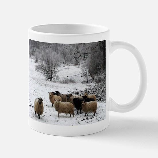 Winter Sheep Mugs
