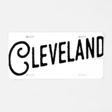 Cleveland, Ohio Aluminum License Plate