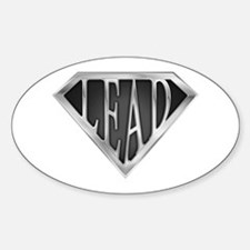 SuperLead(metal) Oval Decal