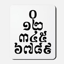 Cambodian Numbers Pyramid - 0 12 345 6789 Khmer Mo