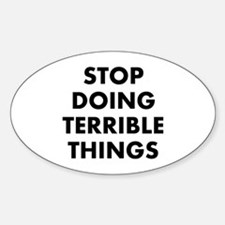 Stop Doing Sticker (Oval)