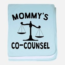 Mommys Co-Counsel baby blanket