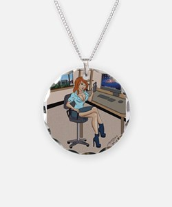 Sexy secretary Pinup Necklace
